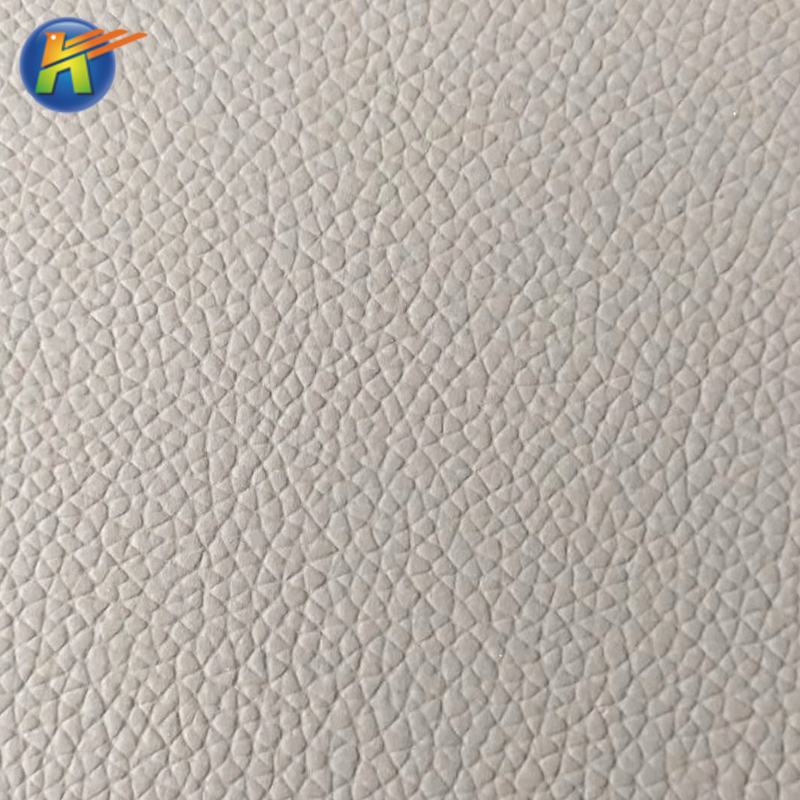 Hot-selling color register litchi pattern microfiber leather material for sofa fabric